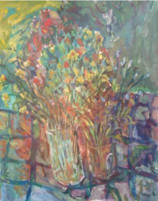 Cuadro comentado: Flores de final de primavera (Acrílico, 2002)
