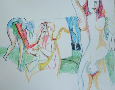 Dibujos de Angel Arias: Paisajes singulares (2001)