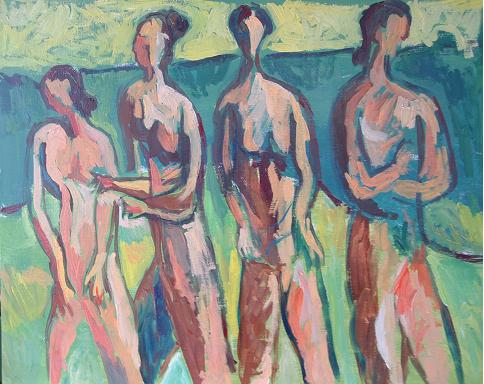 Dibujo comentado: Adolescentes preparándose para correr (2003)