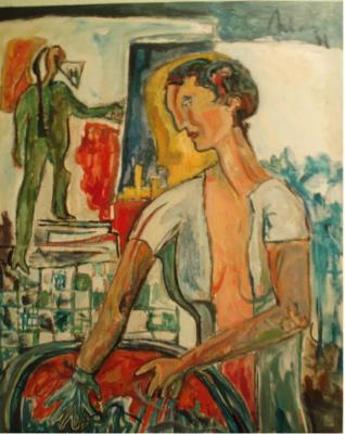 Dibujo comentado: La mujer sacó sus manos del agua (1998)
