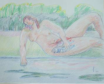 Dibujo Comentado: Joven pescando en aguas provechosas