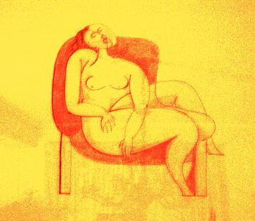Cuadro comentado: Joven descansando en un sofá