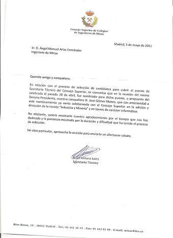 José Gómez Mateo, nuevo Secretario Técnico del Consejo Superior de Ingenieros de Minas